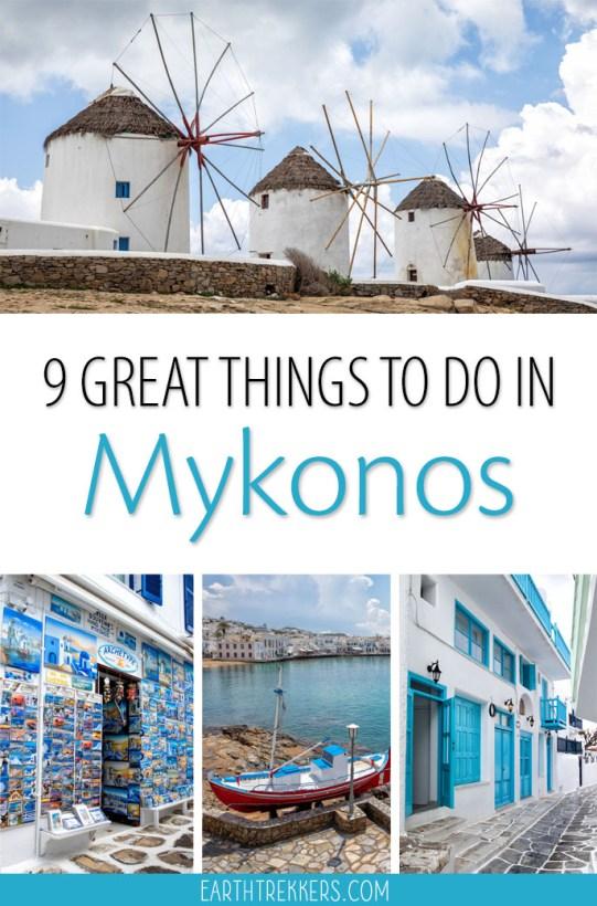 Best things to do in Mykonos Greece