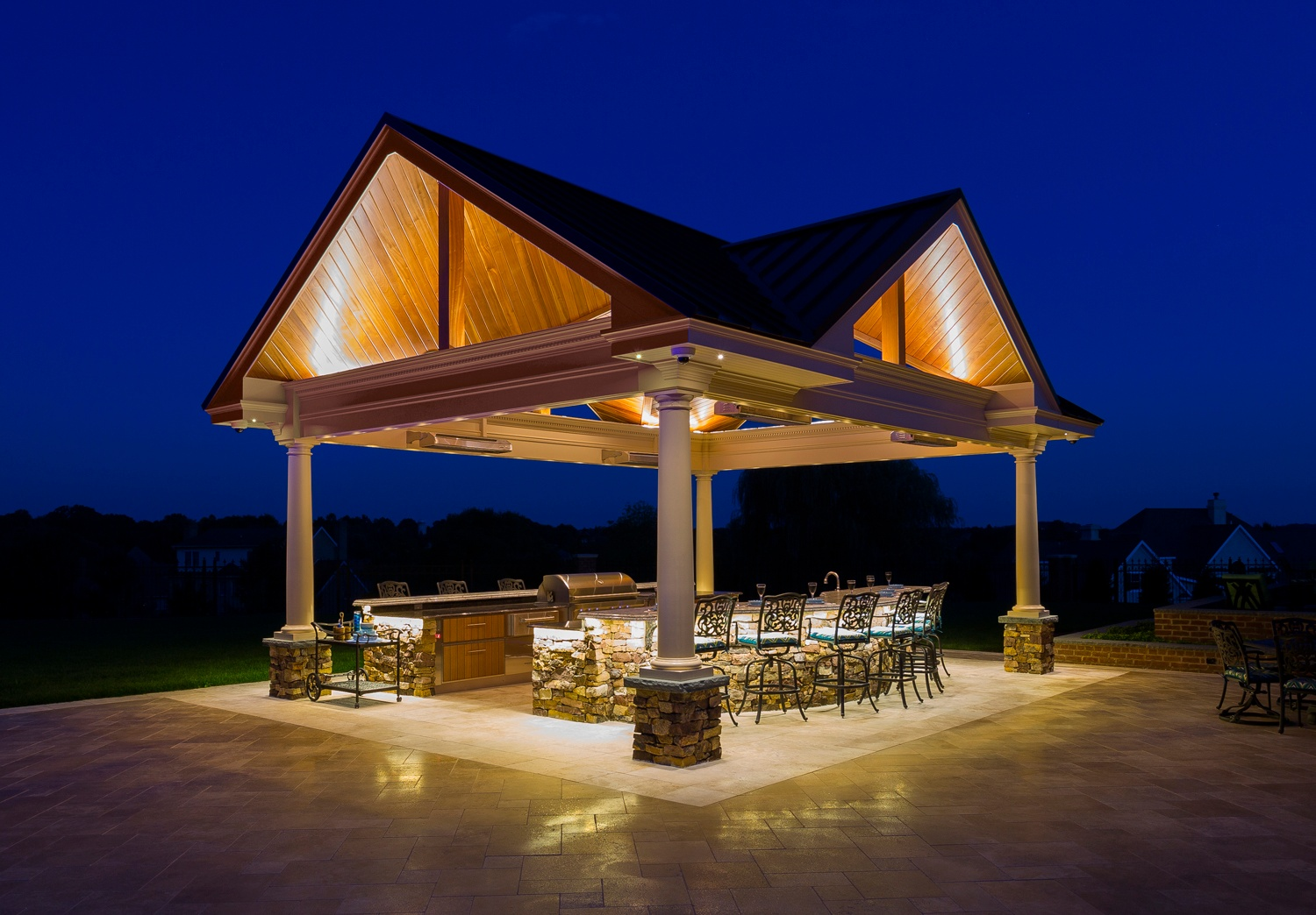 york pa outdoor kitchen and pavilion