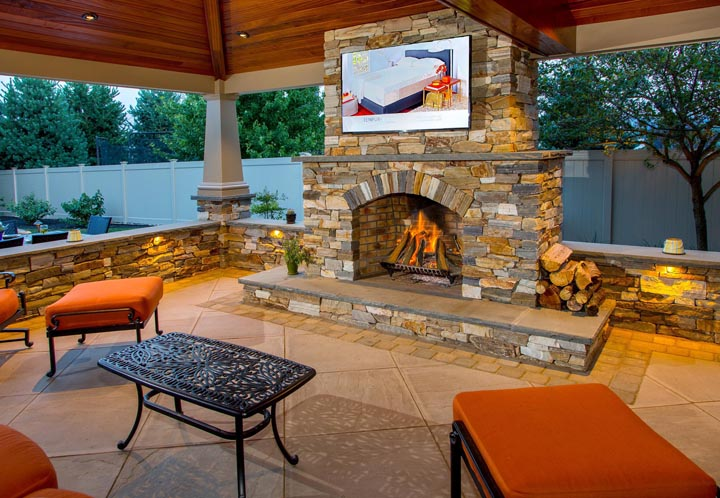outdoor fireplace ideas and pictures