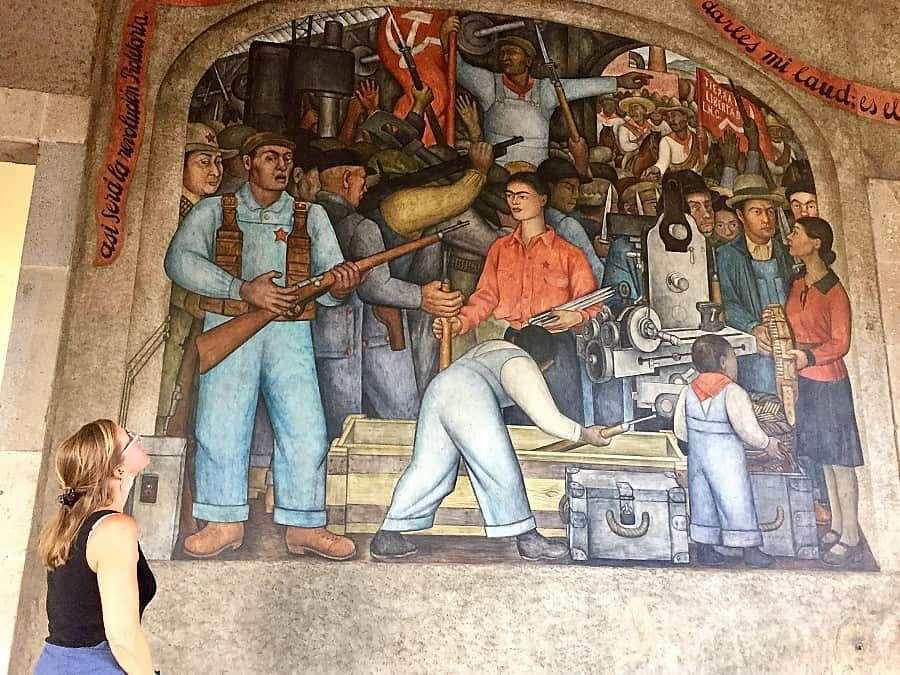 "mexico city travel guide: ""the arsenal"" mural by diego rivera"