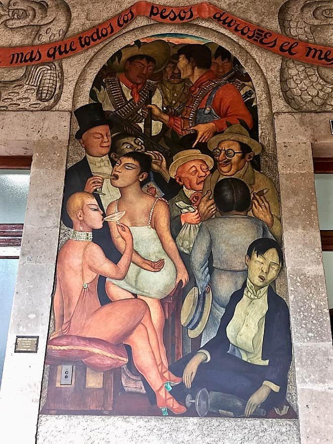 "mexico city travel guide: diego rivera ""the orgy"" mural"