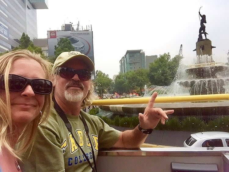mexico city travel guide: we wave hello from the top of the turibus