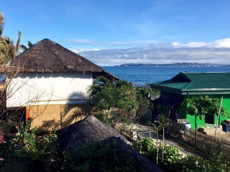 View of Boracay Island from the Hangout Beach Resort, a budget-friendly place.