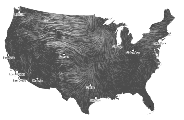 Wind map.