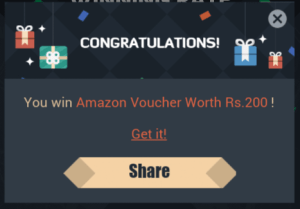 VMate Amazon Gift Card Free Proof techakshay