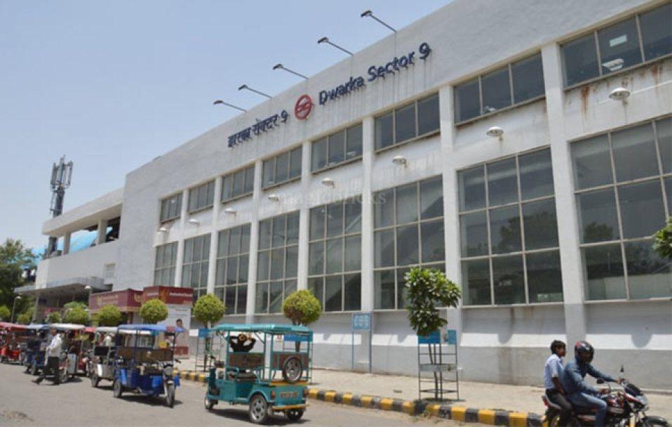 Image result for dwarka sector 9 metro station