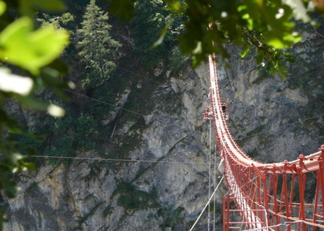 623 Feet High Niouc Bridge, Switzerland