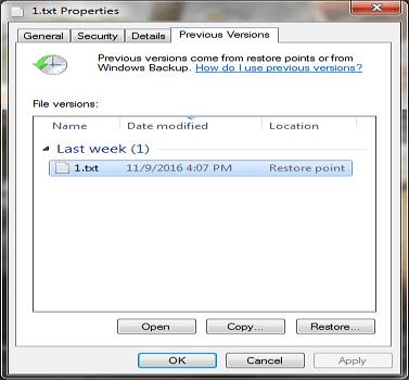 كيفية استرجاع الملفات والمجلدات المحذوفة نهائيا من الويندوز
