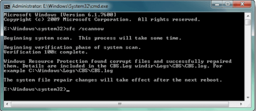 Fix hard disk problem with system file checker.