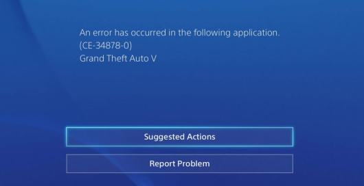 Error code CE-34878-0 on PlayStation 4