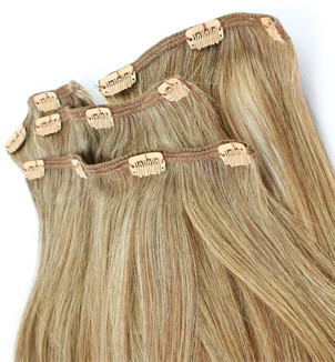 dirty blonde clip in hair extensions