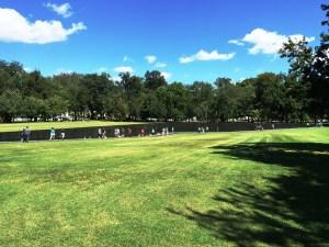 Broad view of the Vietnam Veterans Memorial