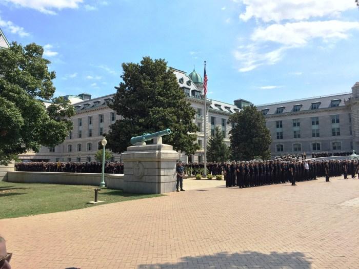 Midshipmen in Noon Formation - USNA