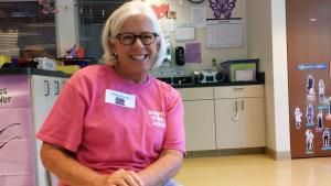 Cute grandmother and Bible School Volunteer