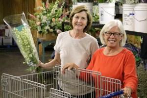 Helen and Pat, floral designer