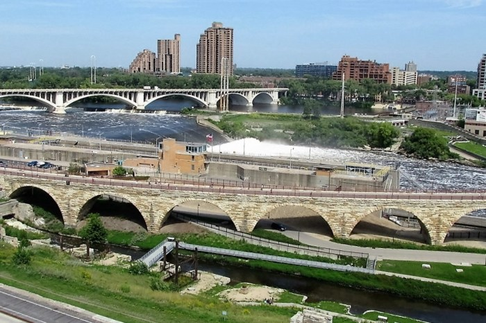 St. Anthony Falls - Replaced by Concrete Apron