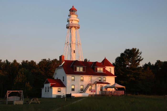 Lighthouse at Rawley Point, Lake Michigan