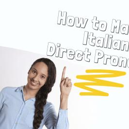 italia direct pronouns