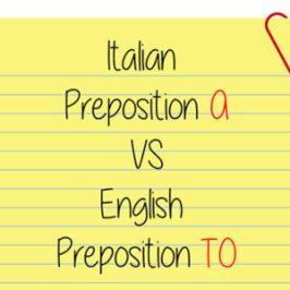 italian preposition a