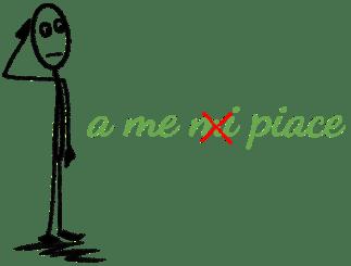a me - mi(wrong)- piace