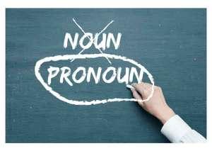 noun - pronoun