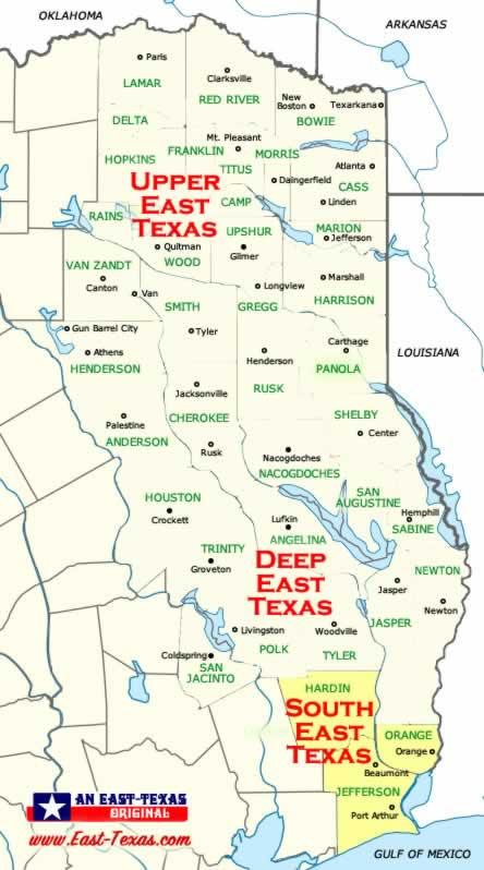 North Texas County Map Printable