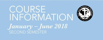Course Information, Jan-Jun 2018
