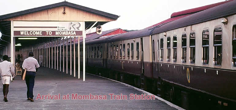 Arrival at the Mombasa Train Station