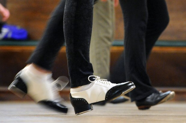 Katherine Seltzer, of Berkeley, clog dances during a Diablo Mountain Cloggers class held at theDanville Grange in Danville, Calif., on Wednesday, Sept. 28, 2016. The weekly class features two sessions of clog dancing, the beginning session followed by the club dances. Although the sessions include some traditional style clogging, most of the dancing is in the popular form of line dances. (Doug Duran/Bay Area News Group)