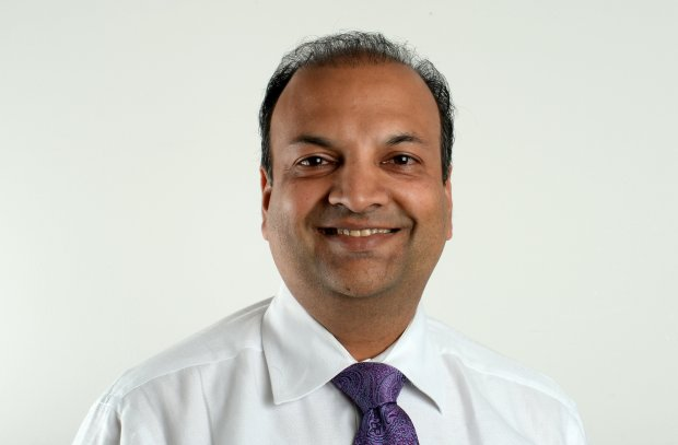 Dublin City Council candidate Arun Goel, 43, is photographed at the East Bay Times in Walnut Creek, Calif., on Tuesday, Oct. 11, 2016. (Susan Tripp Pollard/Bay Area News Group)