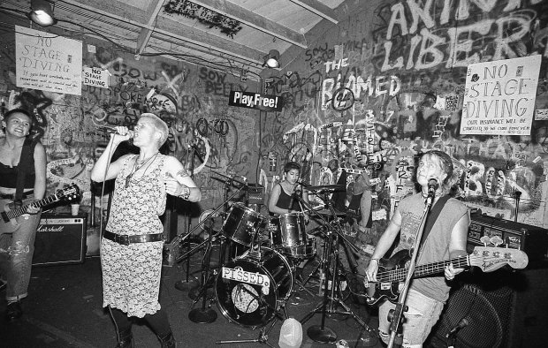Spitboy playing at Berkeley's Gilman Street, in 1992.