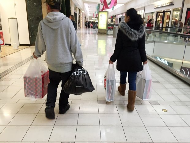Shoppers don't have many others to compete with as they look for Black Friday deals at Sunvalley Shopping Center in Concord, Calif., on Friday, Nov. 25, 2016. (Kristopher Skinner/Bay Area News Group)