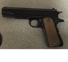 Berkeley police recovered this pellet gun from a suspect in a robbery on Saturday. (Berkeley Police Department)