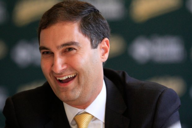 David Kaval, the new president on the Oakland Athletics, talks to media at a press conference at the Oakland Coliseum on Thursday, Nov. 17, 2016. (Laura A. Oda/Bay Area News Group)