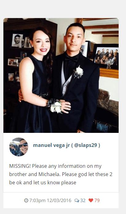 Manuel Vega Jr.'s Instagram post following the Oakland warehouse fire.