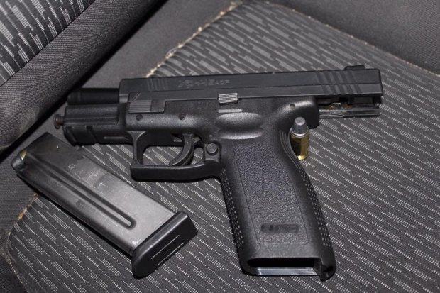 Richmond police shared this image of a loaded handgun recovered from a burglary suspect Thursday, Dec. 15, 2016 after a car crash while fleeing officers in pursuit, police said.