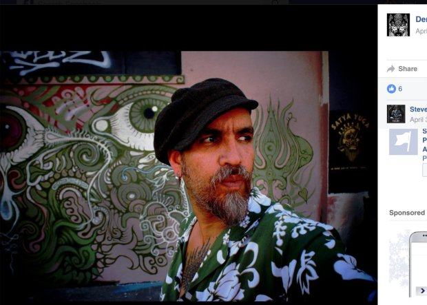 """A person in a photo on Facebook is identified as Derick Ion Almena. Almena ran the artist collective called """"Ghost Ship"""" in Oakland where dozens of people died in a fire. (Facebook)"""