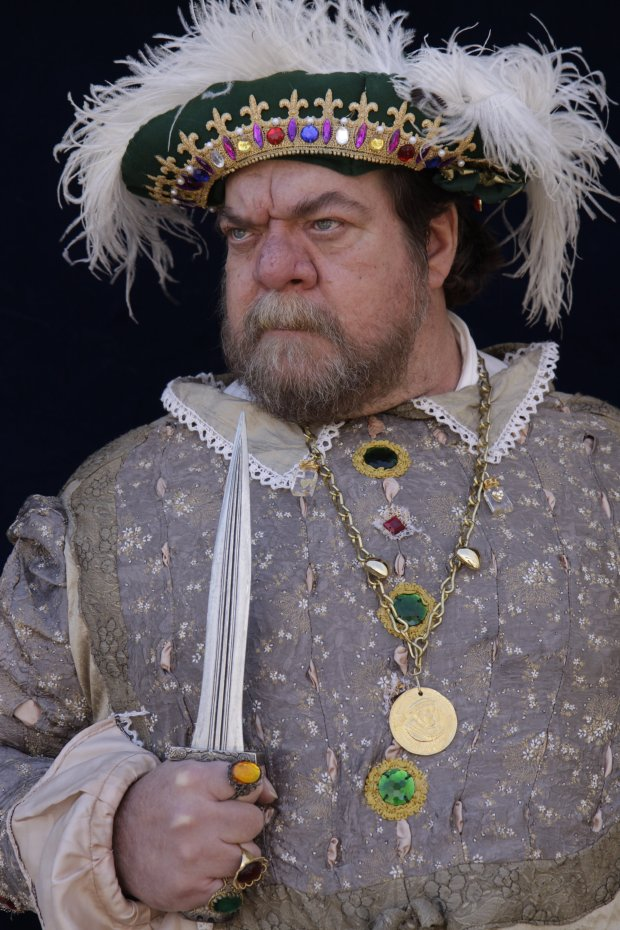 """Frank Mullen is scheduled to portray King Henry VIII as part of the the Museum on Main's 2014 Ed Kinney Speakers Series, """"An Evening With…"""" at the Firehouse Arts Center. (Courtesy of Frank Mullen)"""