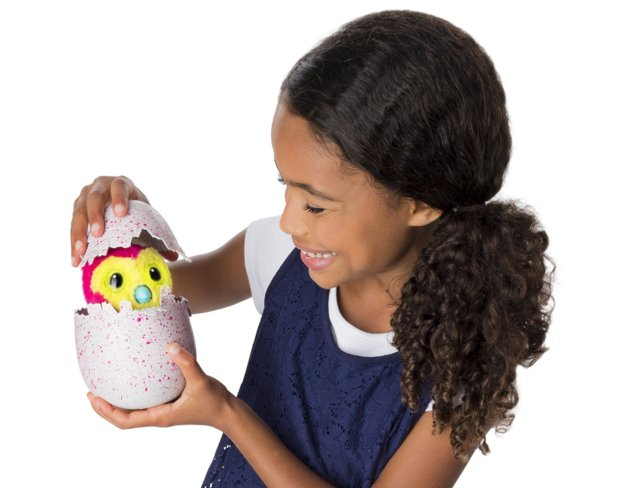 In this photo provided by Spin Master, a Spin Master Hatchimal is demonstrated. Searching for the season's hot holiday toys doesn't have to end in disappointment. With the help of technology, some phone calls and shoe leather, hard-to-find holiday toys such as Hatchimals and NES Classic don't have to remain elusive. (Spin Master via AP)