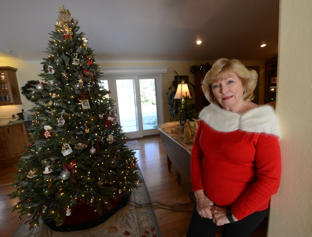 Linda Landgraf is photographed in her Clayton, Calif., home on Friday, Dec. 2, 2016. Landgraf's home will be part of The Clayton Historical Society's seventh annual Christmas Home Tour. (Dan Honda/Bay Area News Group)