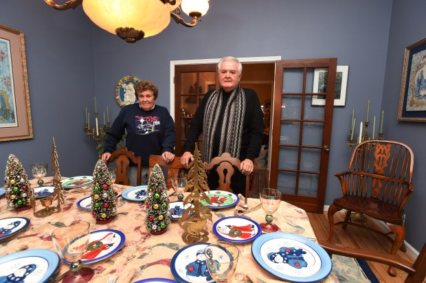 Karen Mangini and her brother Father Richard Mangini are ready to receive guests for the holiday at their Mangini home in Concord, Calif., on Wednesday, Nov. 30, 2016. The home, built in the late 1800s will be on the Clayton Historical Society's seventh annual Christmas Home Tour. (Susan Tripp Pollard/Bay Area News Group)