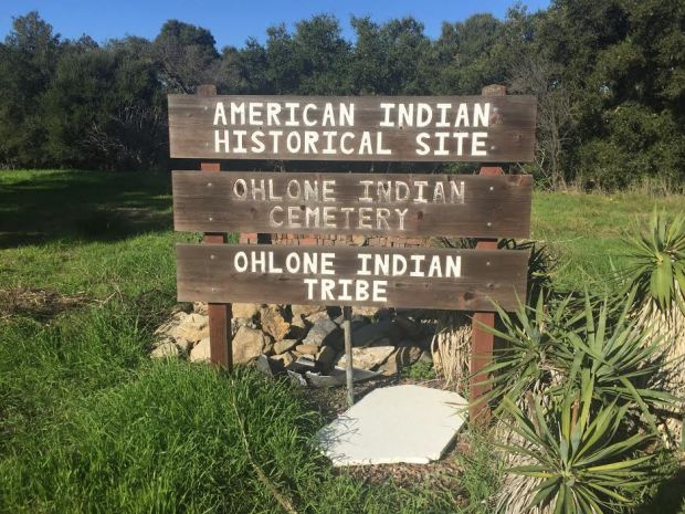 The Ohlone Indian Cemetery, seen on Dec. 25, 2016, is in Fremont, Calif.