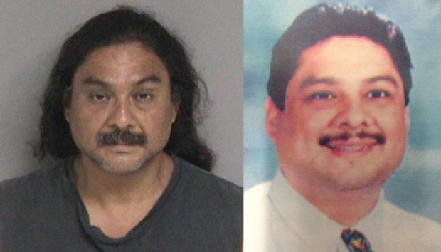 Frank Montenegro, left, in a recent booking photo, left, and as he appeared when he was a fugitive, sought in connection with the alleged sexual assaults of two Fremont elementary school students. Photos courtesy the Fremont Police Department (left) and Northern California Regional Intelligence Center (right).
