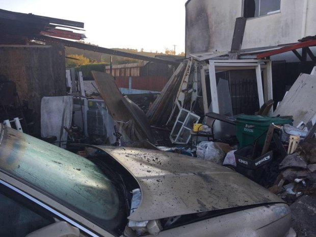 Alameda County firefighters shared this image on social media of the aftermath of a single-alarm duplex fire Sunday, March 12, 2017 in the 1500 block of 150th Avenue in San Leandro.