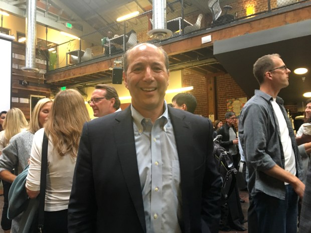 """""""The reason I'm running is that after the last election, politics have gone off track and people need to engage in ways outside their comfort zone,"""" says Jeff Bleich, of Piedmont, who announced his bid for state lieutenant governor Tuesday night at the Impact Hub in downtown Oakland. Bleich is former U.S. ambassador to Australia and special counsel to President Barack Obama."""