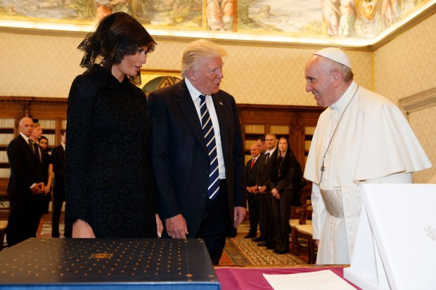 Image result for trump and pope