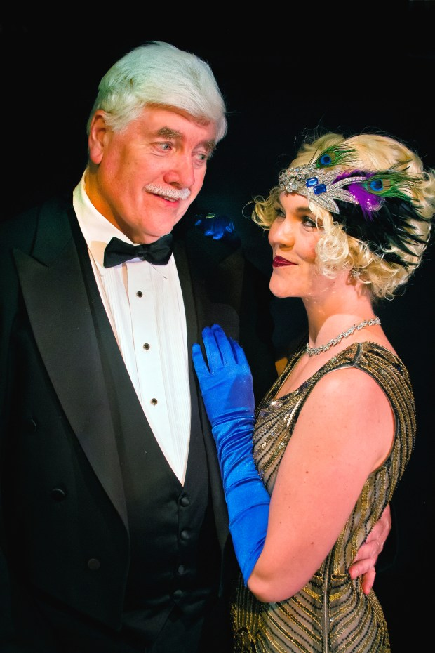 "Cindy Head plays Marion Davies, right, and Leland Morine portrays William Randoph Hearst in ""Castle Happy,"" the second play in the Altarena Playhouse's Alternative Season. (Courtesy of Jim Norrena)"