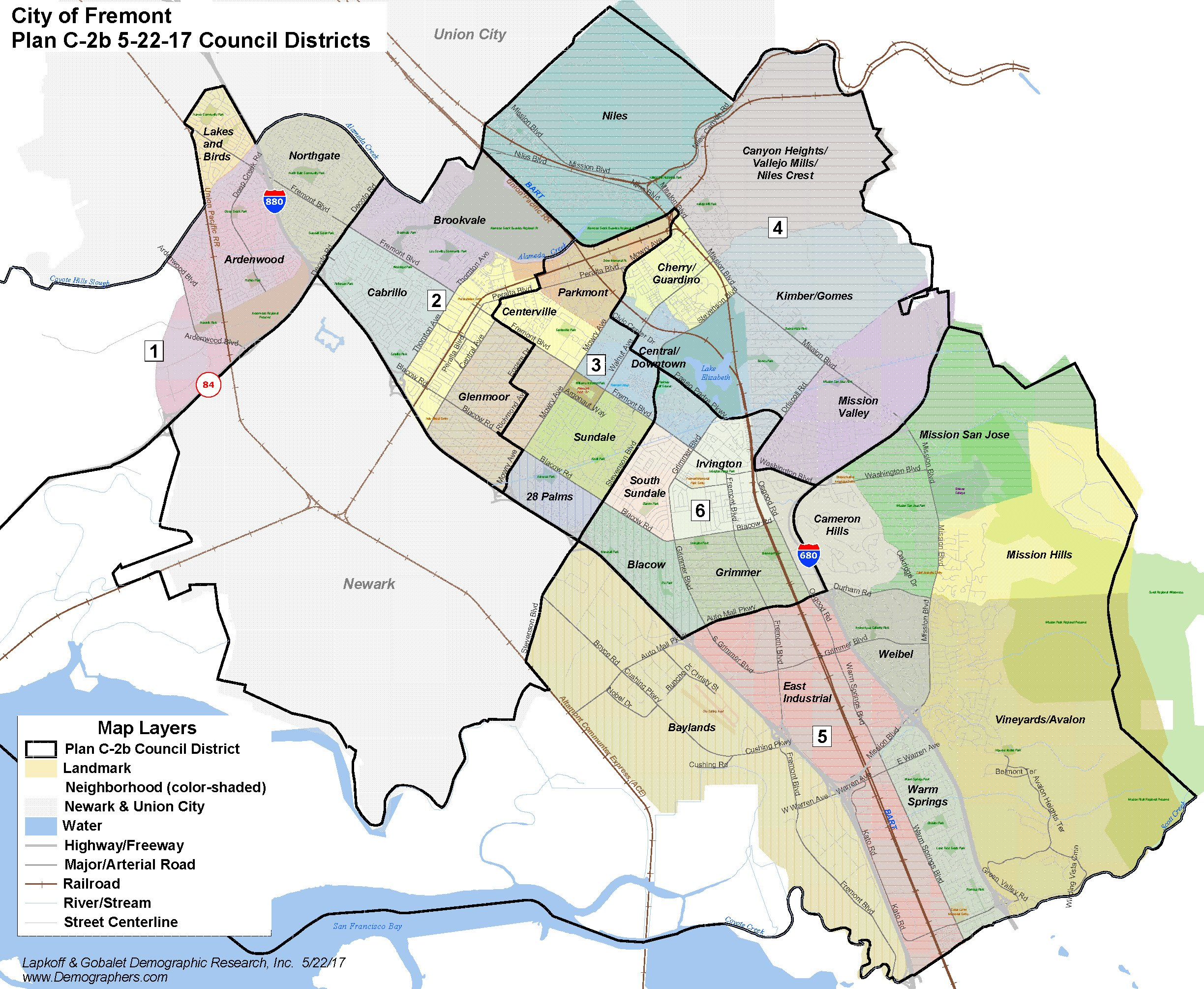Fremont City Council chooses less popular district map