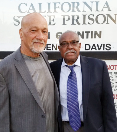 Glenn Bailey, left, and Doug Butler outside San Quentin State Prison on April 23, 2017. (Courtesy of Doug Butler)
