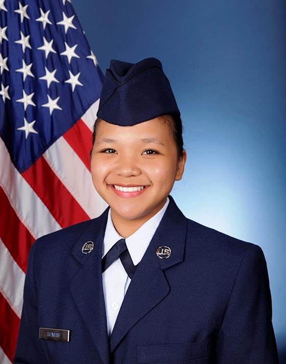 U.S. Air Force Airman 1st Class Nicole Thereze M. Roman graduated from basic military training at Joint Base San Antonio-Lackland, San Antonio, Texas.